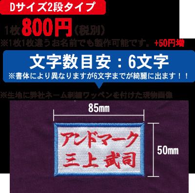 【Dサイズ2段タイプ】1枚700円(税別)