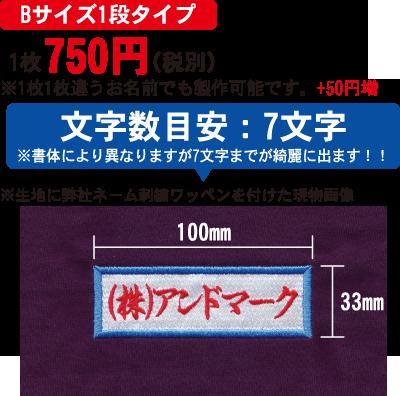 【Bサイズ1段タイプ】1枚625円(税別)