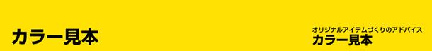 【カラー見本】オリジナルアイテムづくりのアドバイス カラー見本