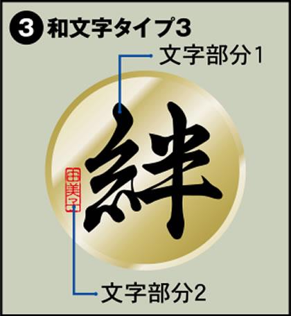 3-和文字タイプ3
