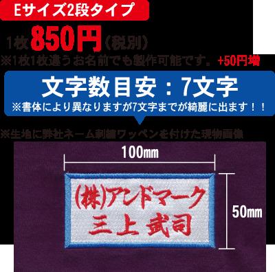 【Eサイズ2段タイプ】1枚725円(税別)
